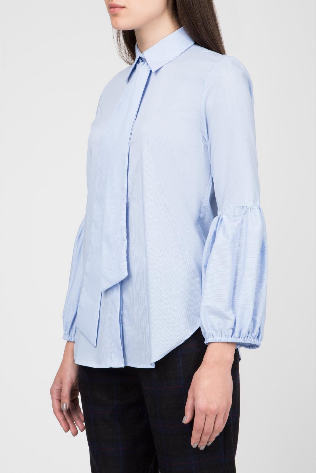 Женская голубая блуза в полоску Skills & Genes
