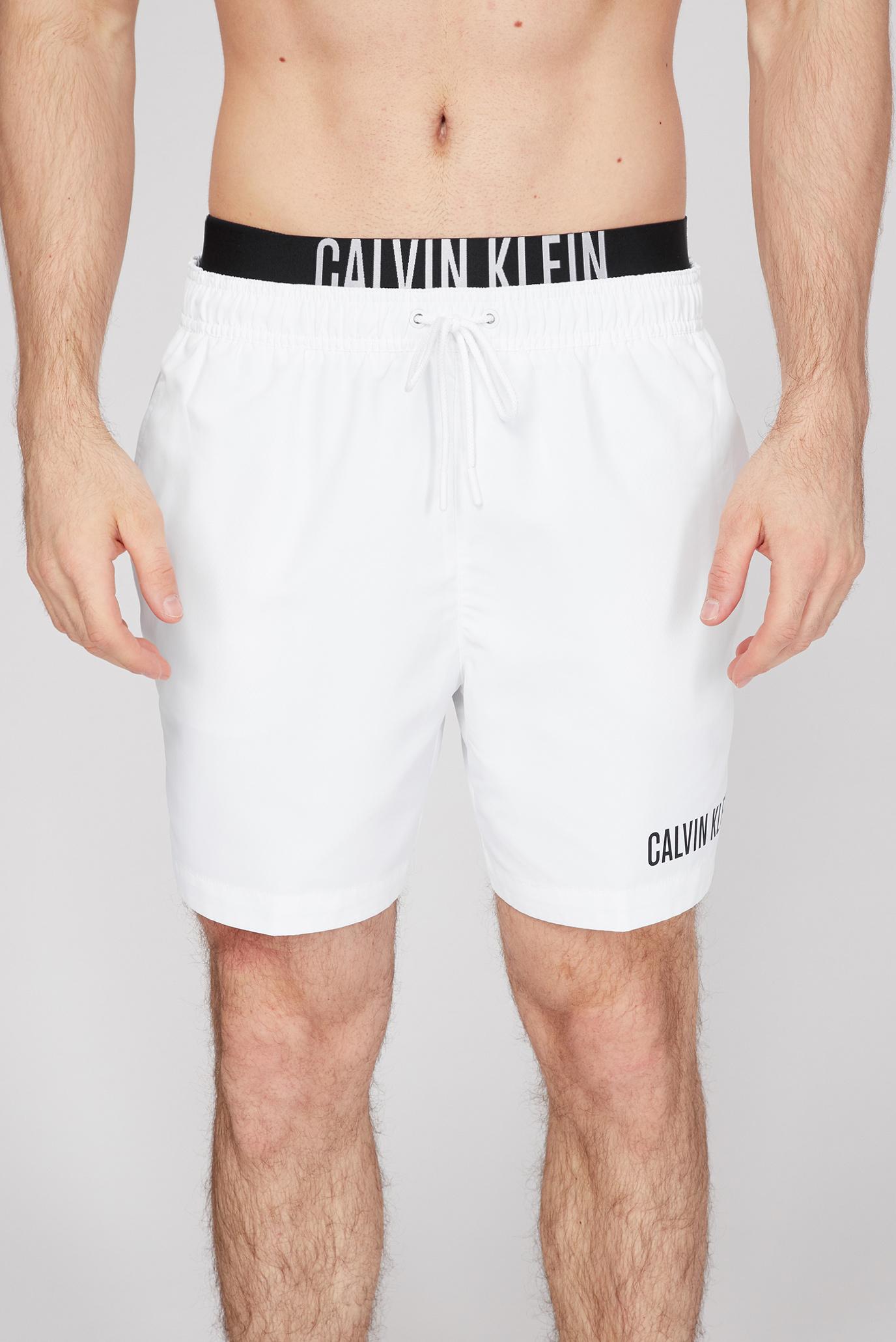 Мужские белые плавательные шорты DOUBLE WB 1