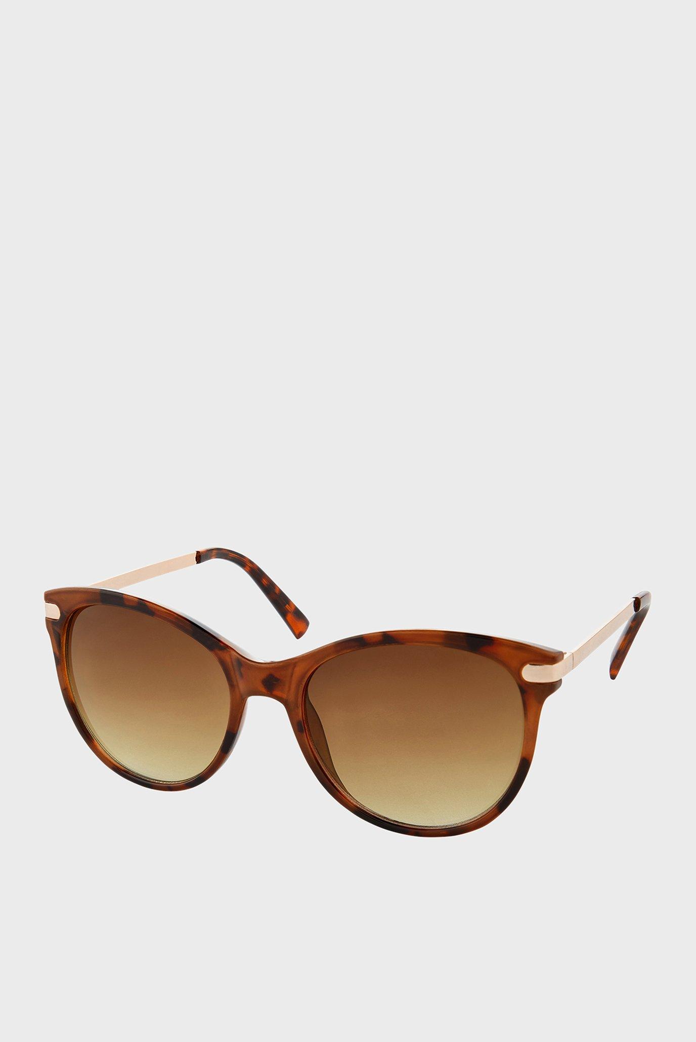 Жіночі коричневі сонцезахисні окуляри  RUBEE FLAT-TOP 1