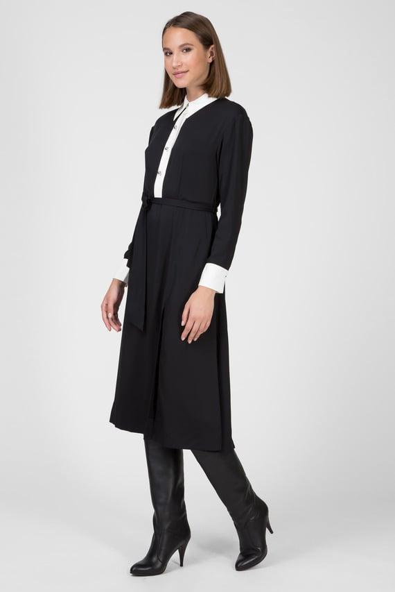 Женское черное платье ZENDAYA CONTRAST COLLAR