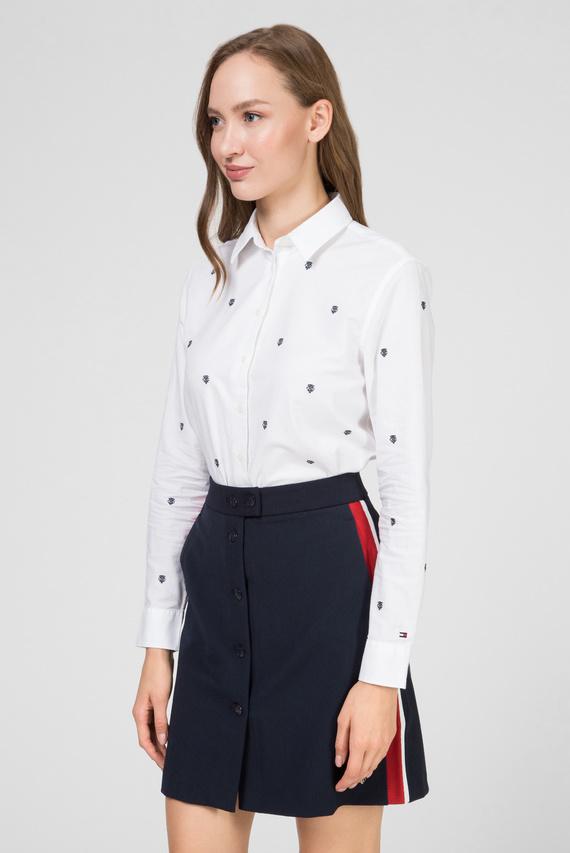Женская белая рубашка AJA EMB