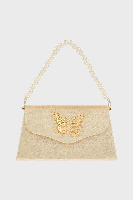 Детская золотистая сумка simone Butterfly Min