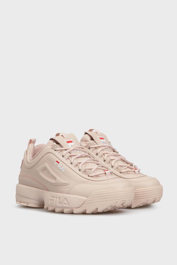 Женские розовые кожаные кроссовки DISRUPTOR PEACHWHIP