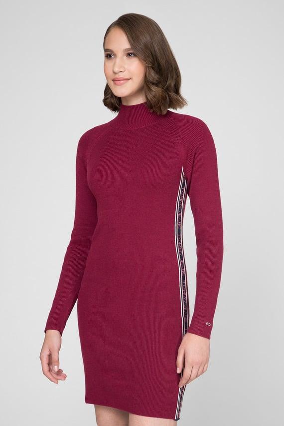 Женское бордовое платье-свитер TJW SWEATER DRESS