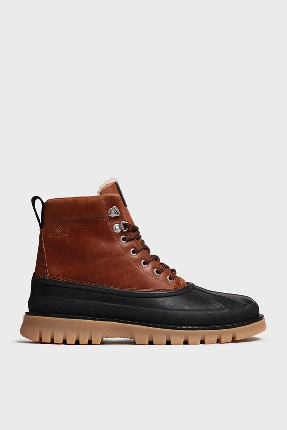 Мужские кожаные ботинки с мехом COLORADO