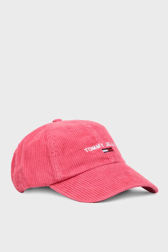 Женская розовая вельветовая кепка TJW SPORT