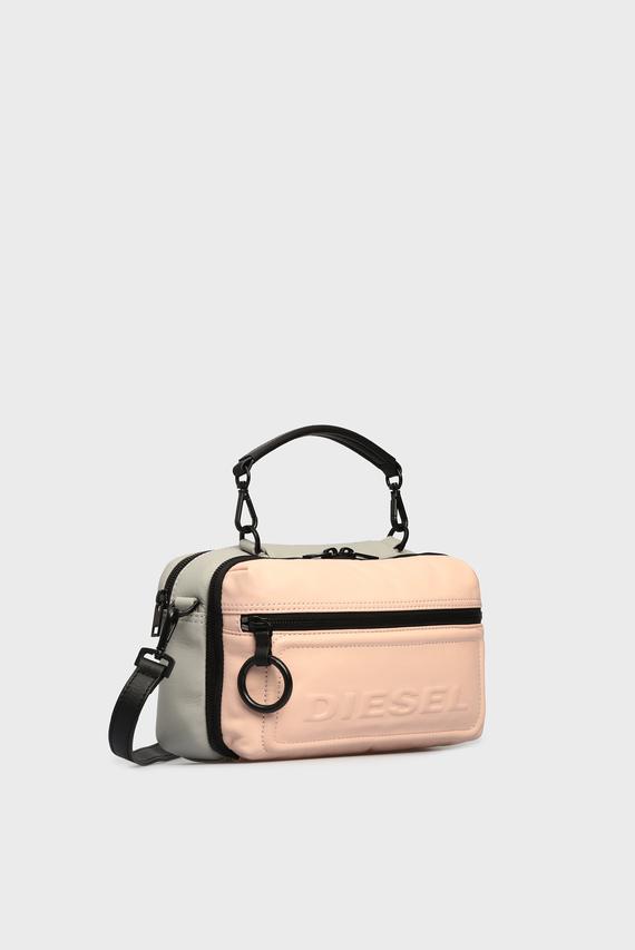 Женская пудровая кожаная сумка через плечо FUTURAH