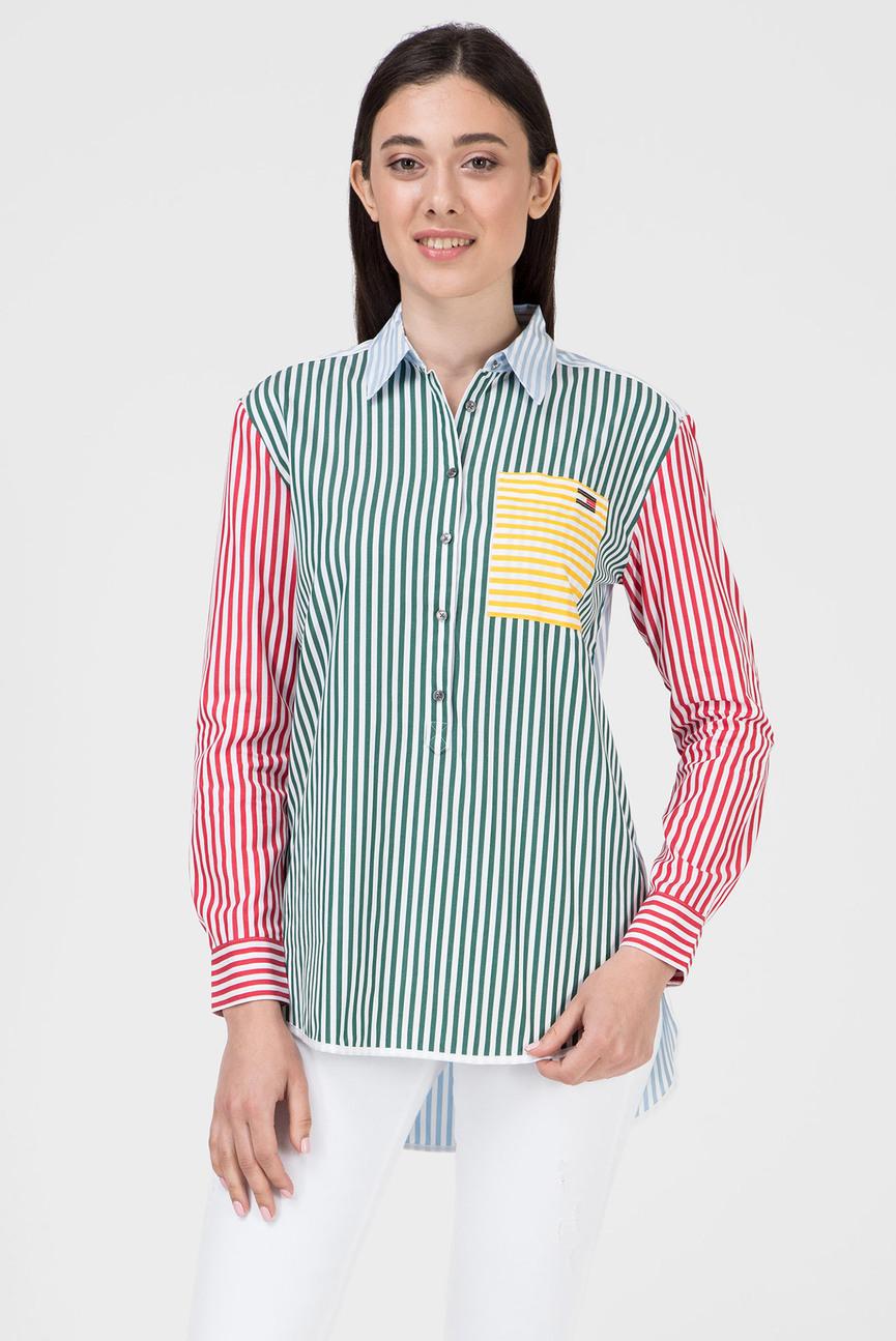 Женская рубашка в полоску FANCY PATCHWORK