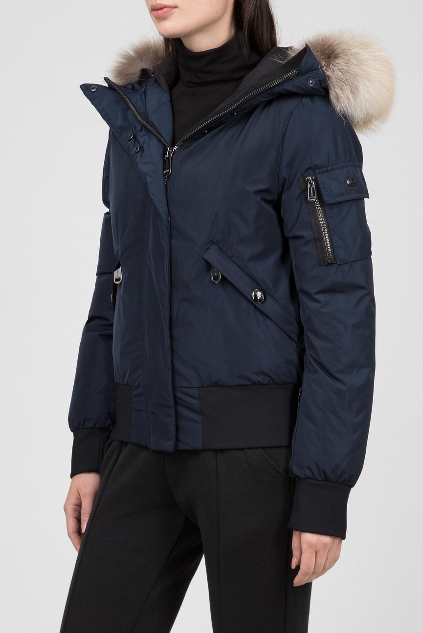 Женская синяя пуховая куртка