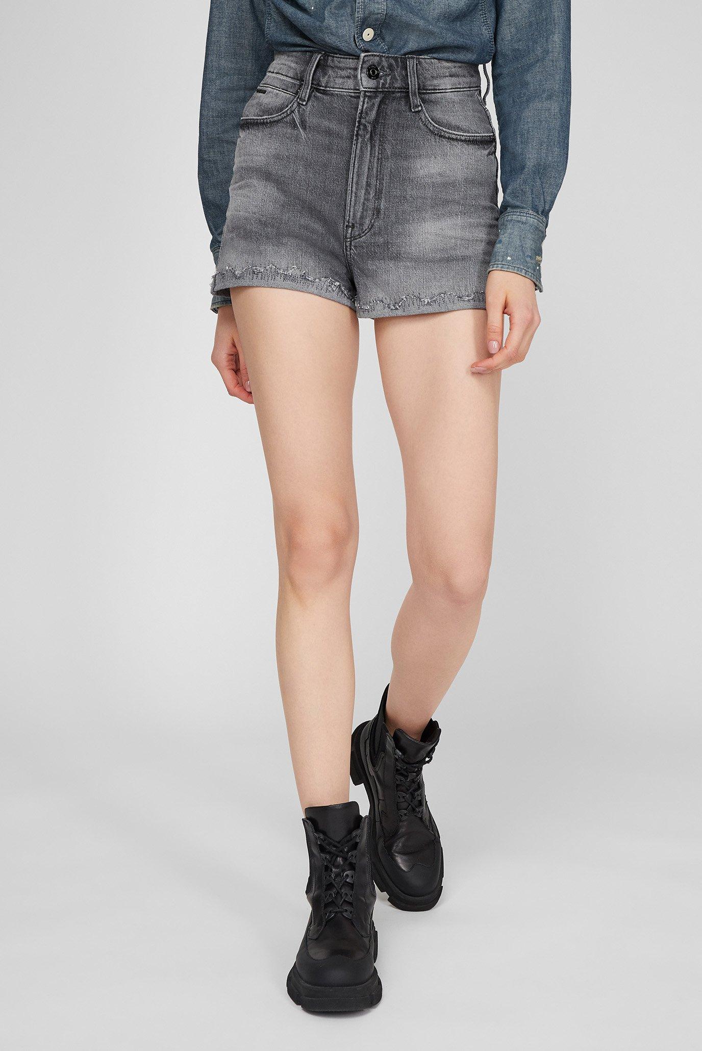 Женские серые джинсовые шорты Tedie Ultra High 1