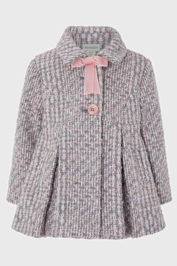 Детское розовое пальто BABY TESSIE TWEED