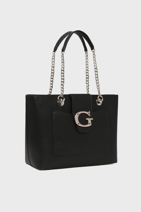 Женская черная сумка на плечо CAMILA TOTE