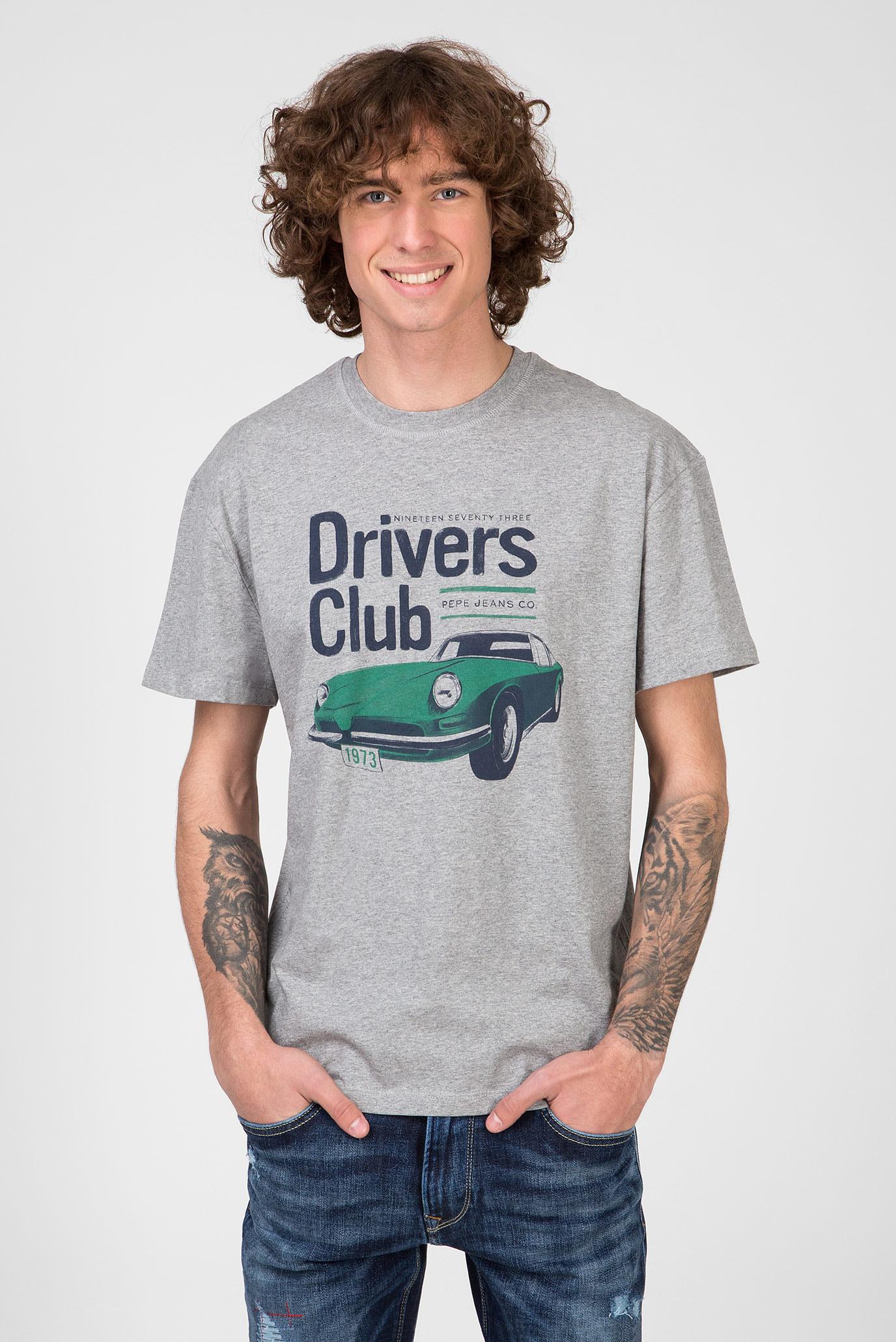 Мужская серая футболка WALDO Pepe Jeans