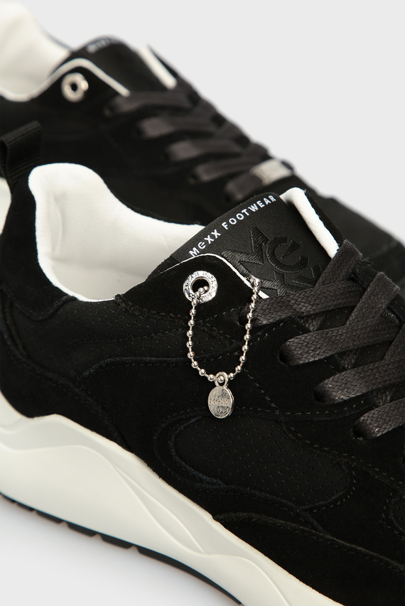 Женские черные замшевые кроссовки Dyonna
