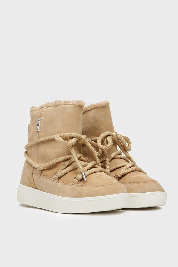 Женские бежевые замшевые ботинки BRIXTON WARM