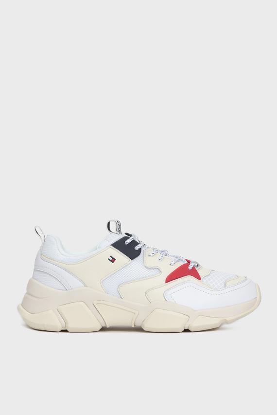 Женские белые кроссовки CHUNKY