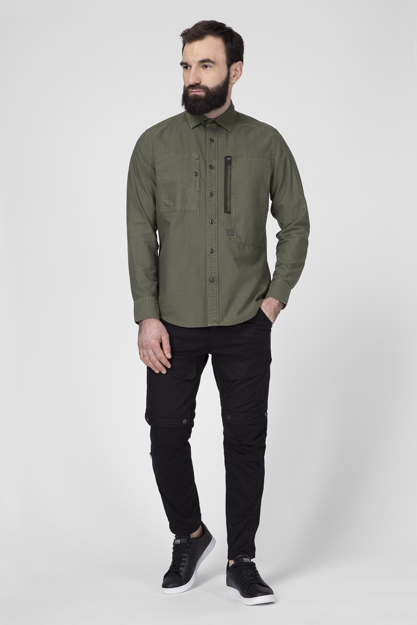 Мужская зеленая рубашка Powel Slim G-Star RAW