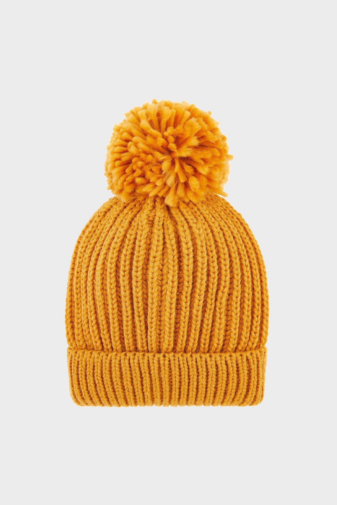 Женская желтая шапка Accessorize