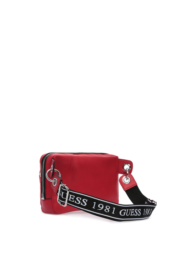 Женская красная поясная сумка