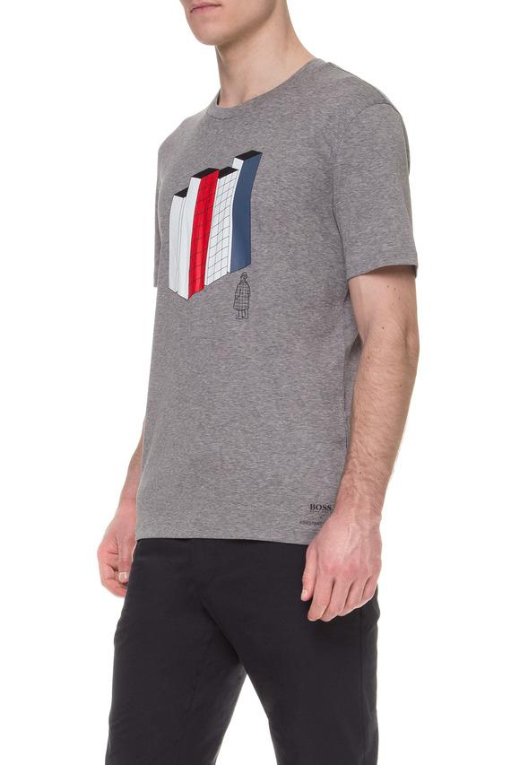 Мужская серая футболка BOSS HUGO BOSS X KONSTANTIN GRCIC