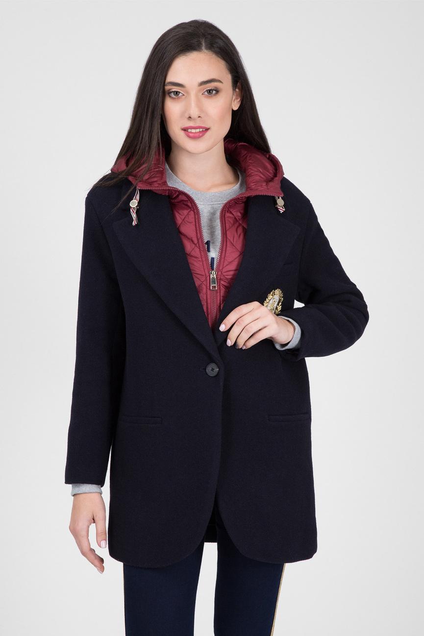 Женское темно-синее пальто ICON WOOL AND NYLON COAT