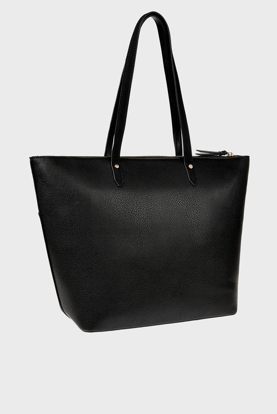 Женская черная сумка на плечо EMILY