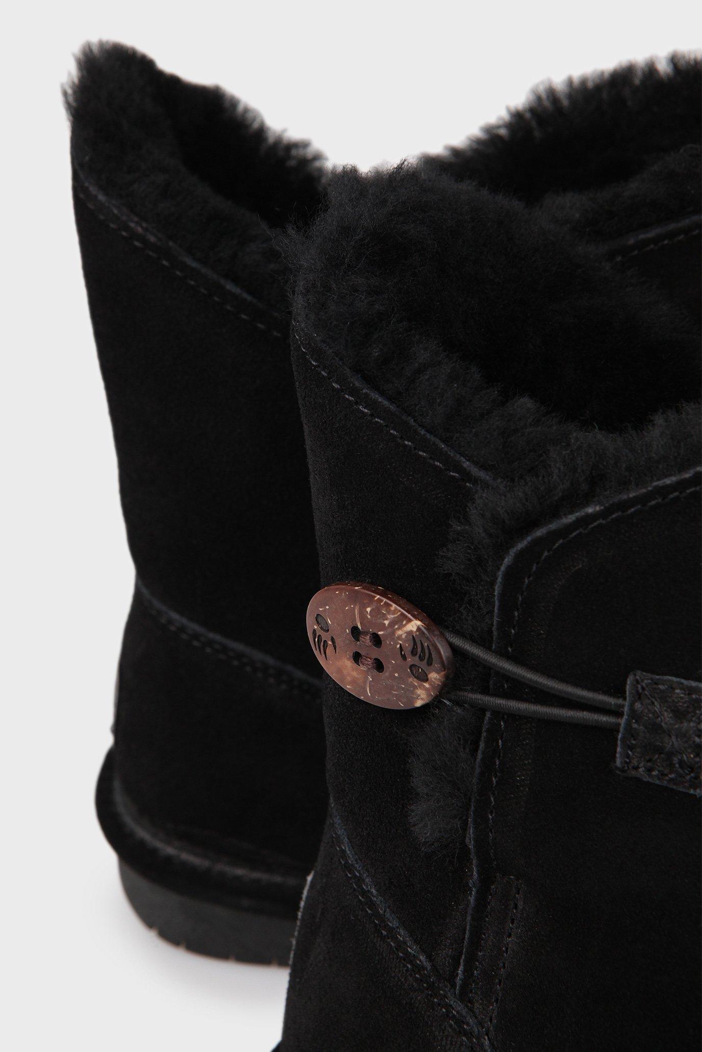 Женские черные угги Bearpaw