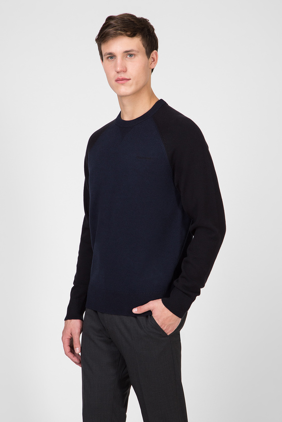 Мужской темно-синий джемпер TONAL COLORBLOCK