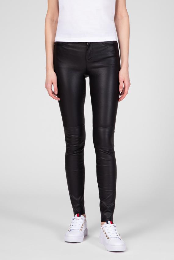 Женские черные кожаные брюки STRETCH LEATHER