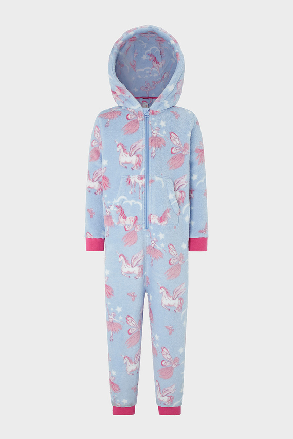 Детская голубая пижама VIVIANNA SLEEPSUIT