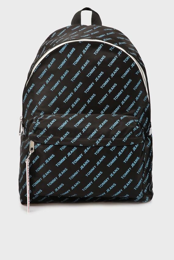 Мужской черный рюкзак TJM LOGO TAPE