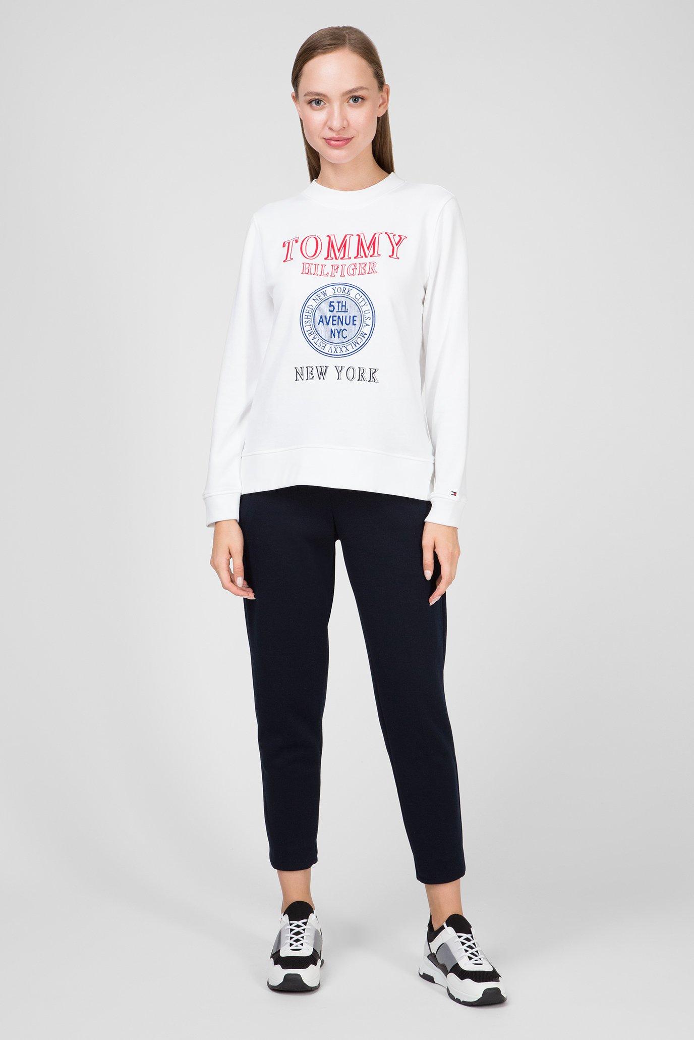 Купить Женский белый свитшот DELIA Tommy Hilfiger Tommy Hilfiger WW0WW25167 – Киев, Украина. Цены в интернет магазине MD Fashion