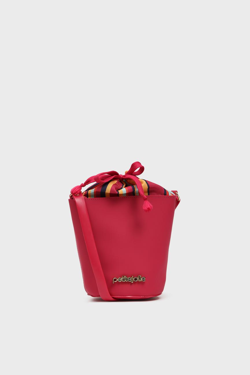 Женская малиновая сумка через плечо BIA
