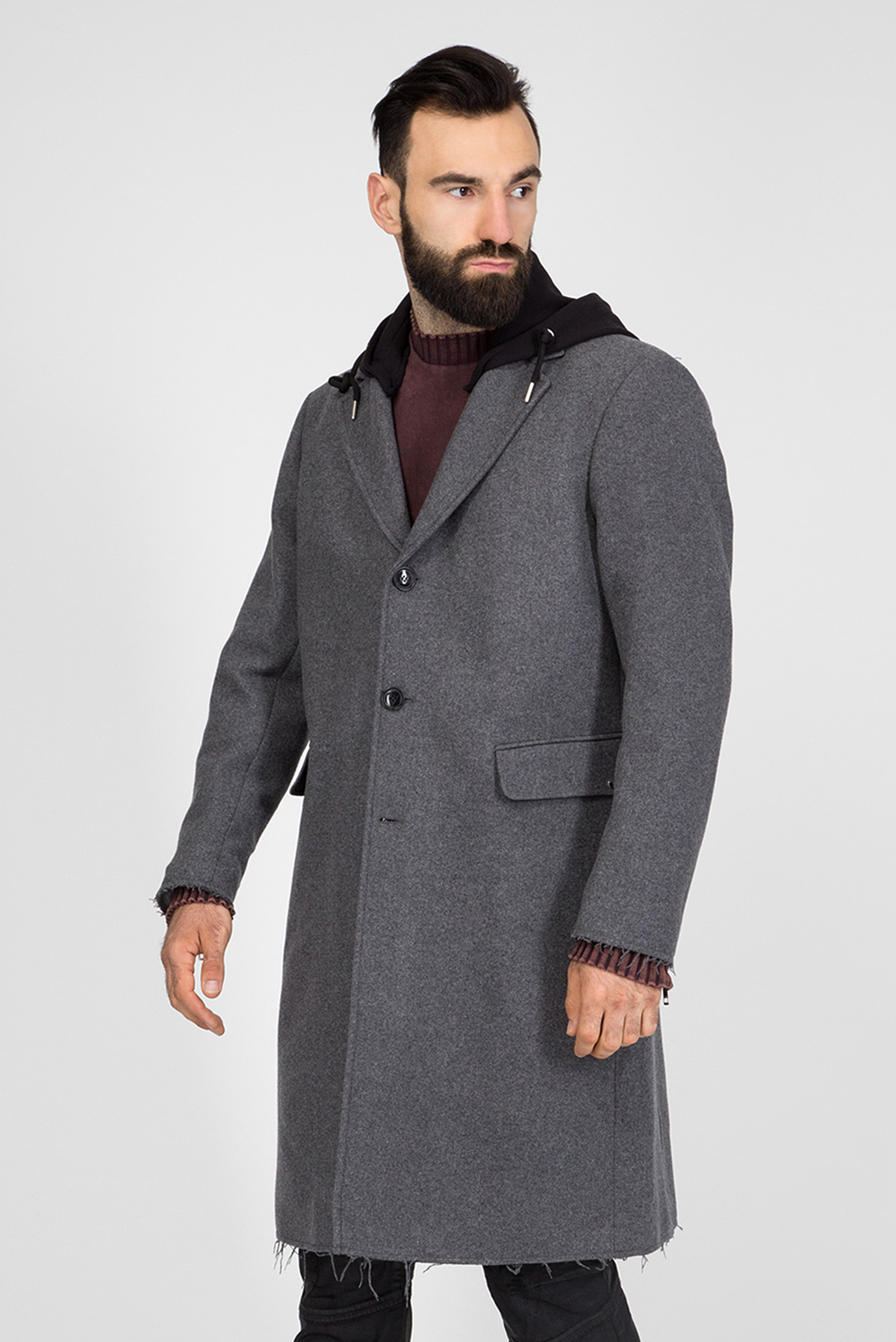 Мужское серое пальто W-DEXTER GIACCA Diesel