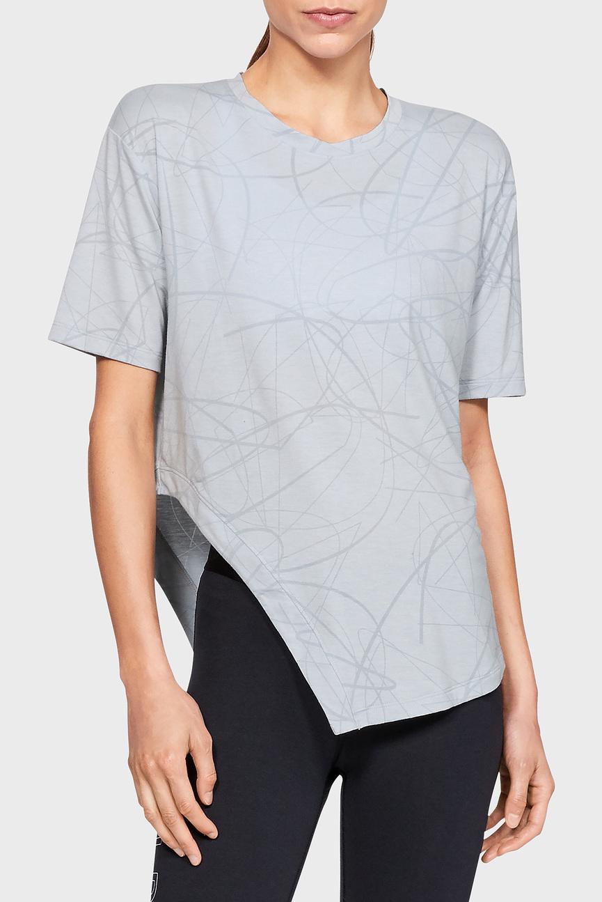Женская светло-серая футболка DO WORK ASYM SS