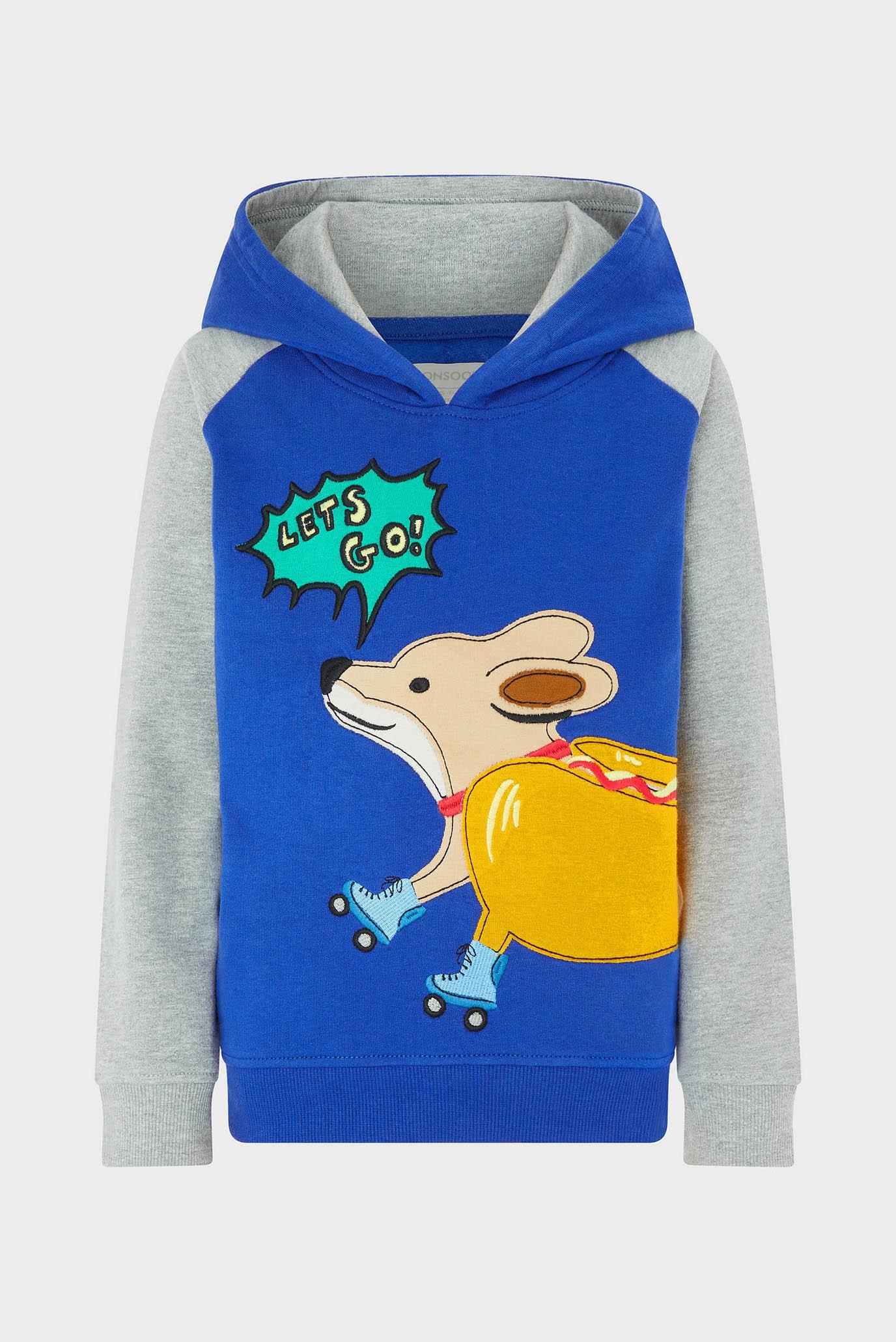 Детское голубое худи Skater Dog Monsoon Children