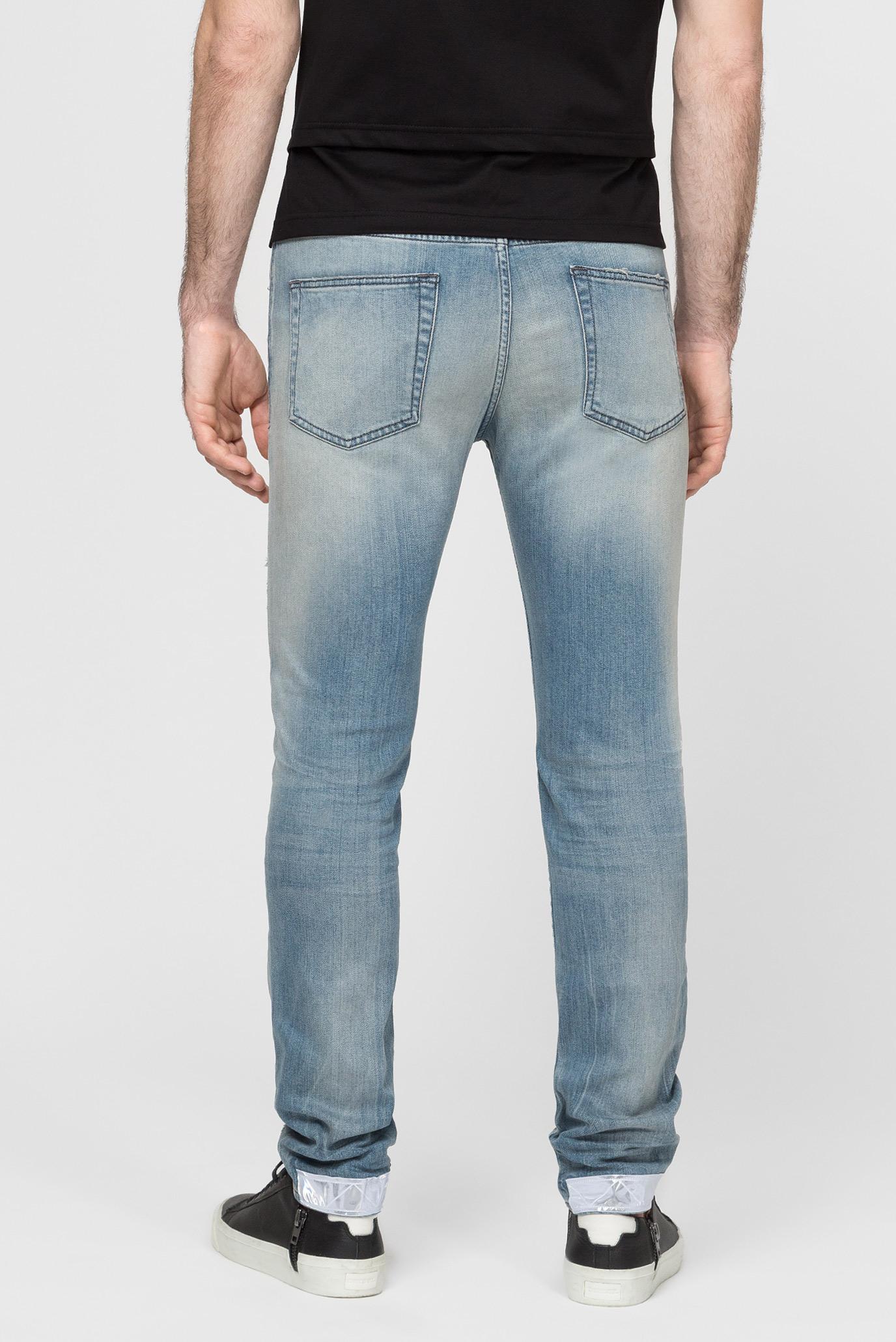 Мужские голубые джинсы D-STRUKT Diesel