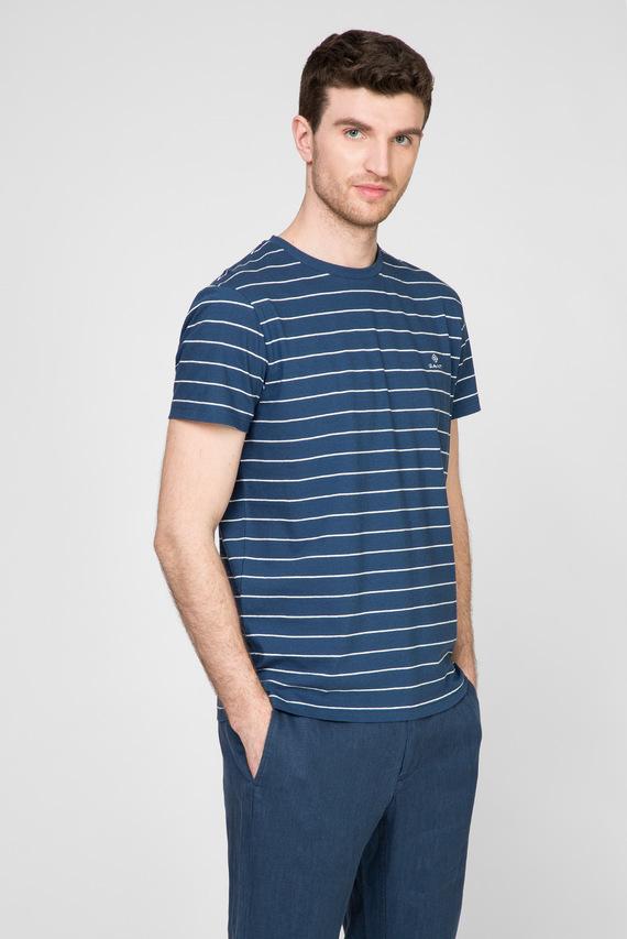 Мужская синяя футболка в полоску STRIPED