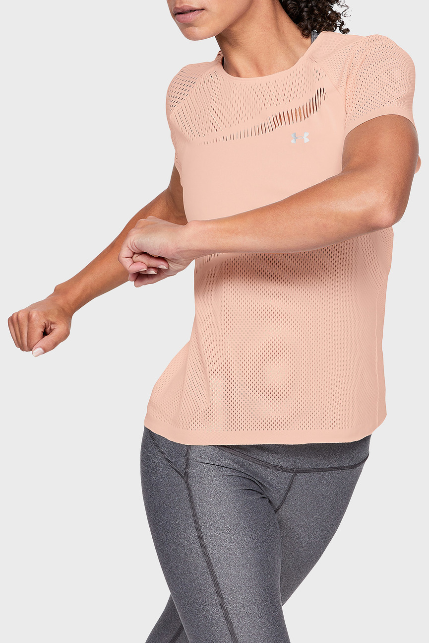 Женская персиковая футболка Beat The Heat
