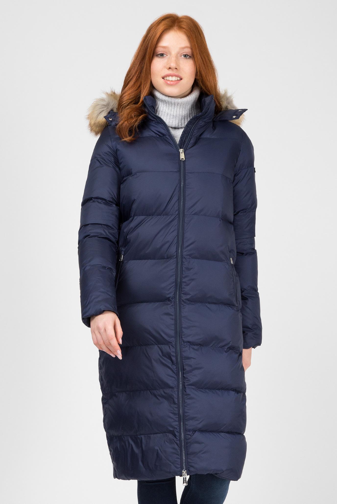 Купить Женская синяя удлиненная куртка Tommy Hilfiger Tommy Hilfiger DW0DW05164 – Киев, Украина. Цены в интернет магазине MD Fashion