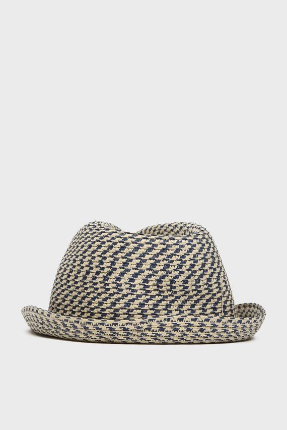 Мужская бежевая соломенная шляпа STEFAN