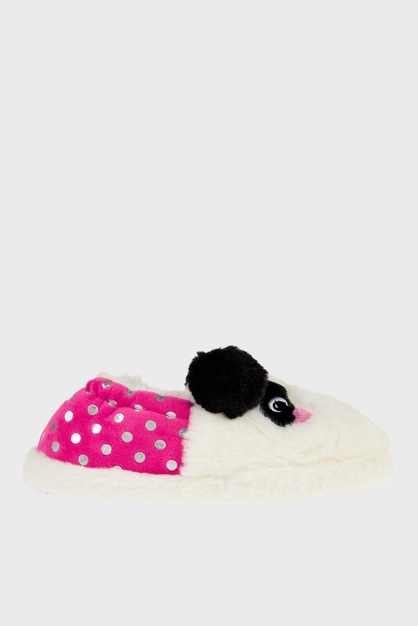 Детские белые домашние тапочки PIPPA PANDA SLIPPER Accessorize