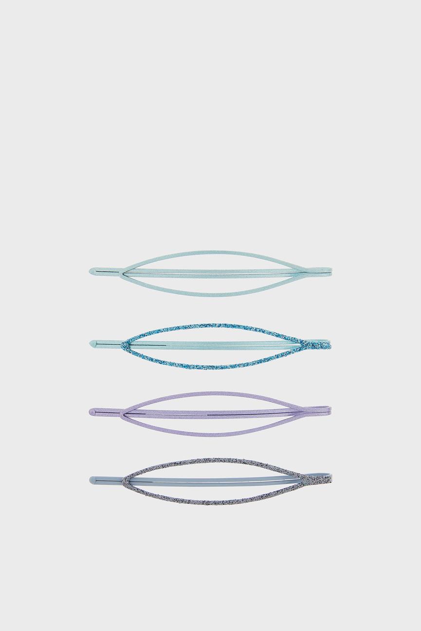 Детский набор заколок для волос OVAL METALLIC