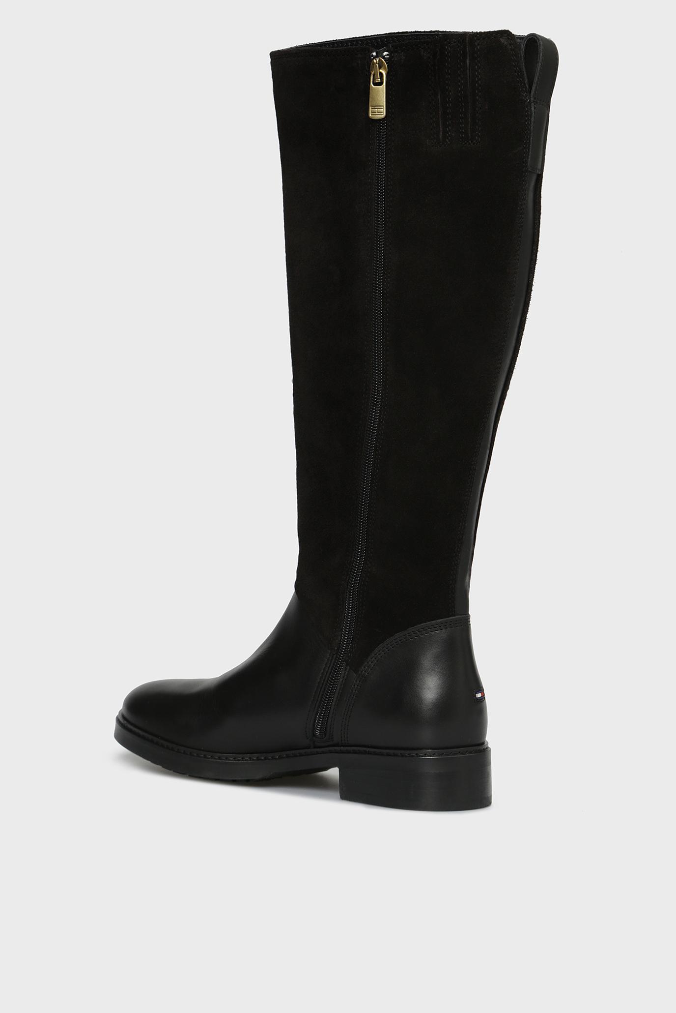 Купить Женские черные кожаные сапоги BASIC TH RIDING BOOT SUEDE MIX Tommy Hilfiger Tommy Hilfiger FW0FW03450 – Киев, Украина. Цены в интернет магазине MD Fashion