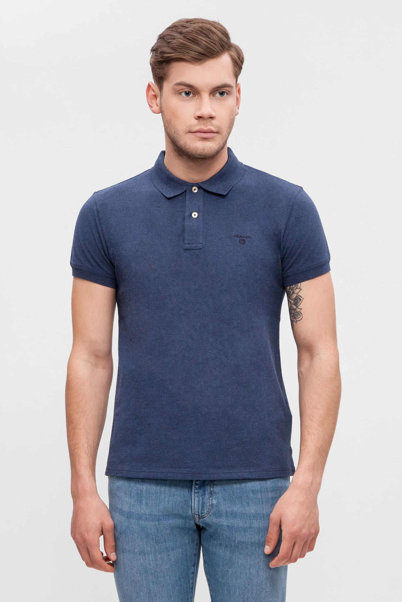 e05ff91a1821e Купить Мужское синее поло Gant Gant 252105 – Киев, Украина. Цены в интернет  магазине MD Fashion