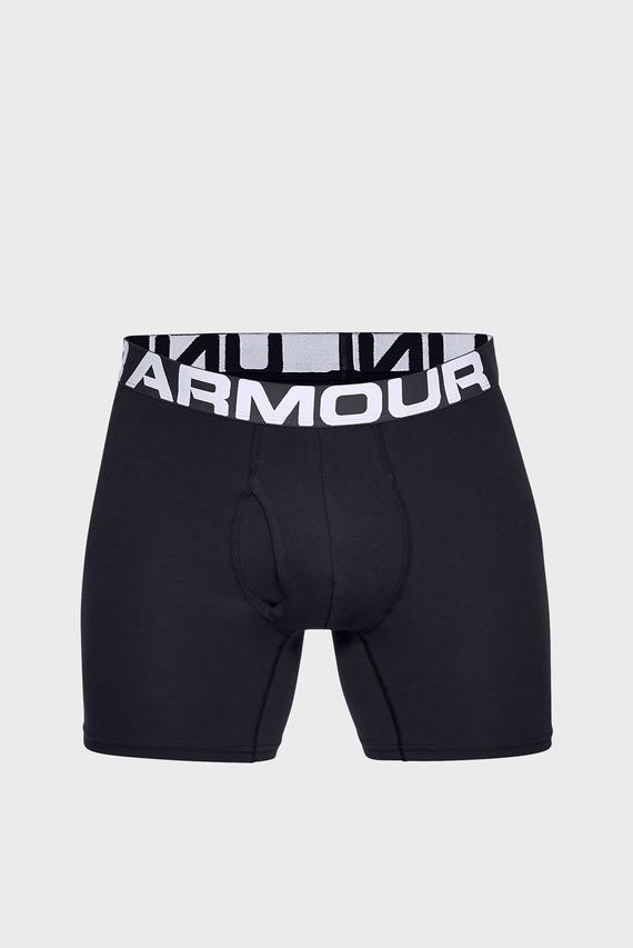 Мужские черные трусы-боксеры (3 шт) Charged Cotton 6in 3 Pack
