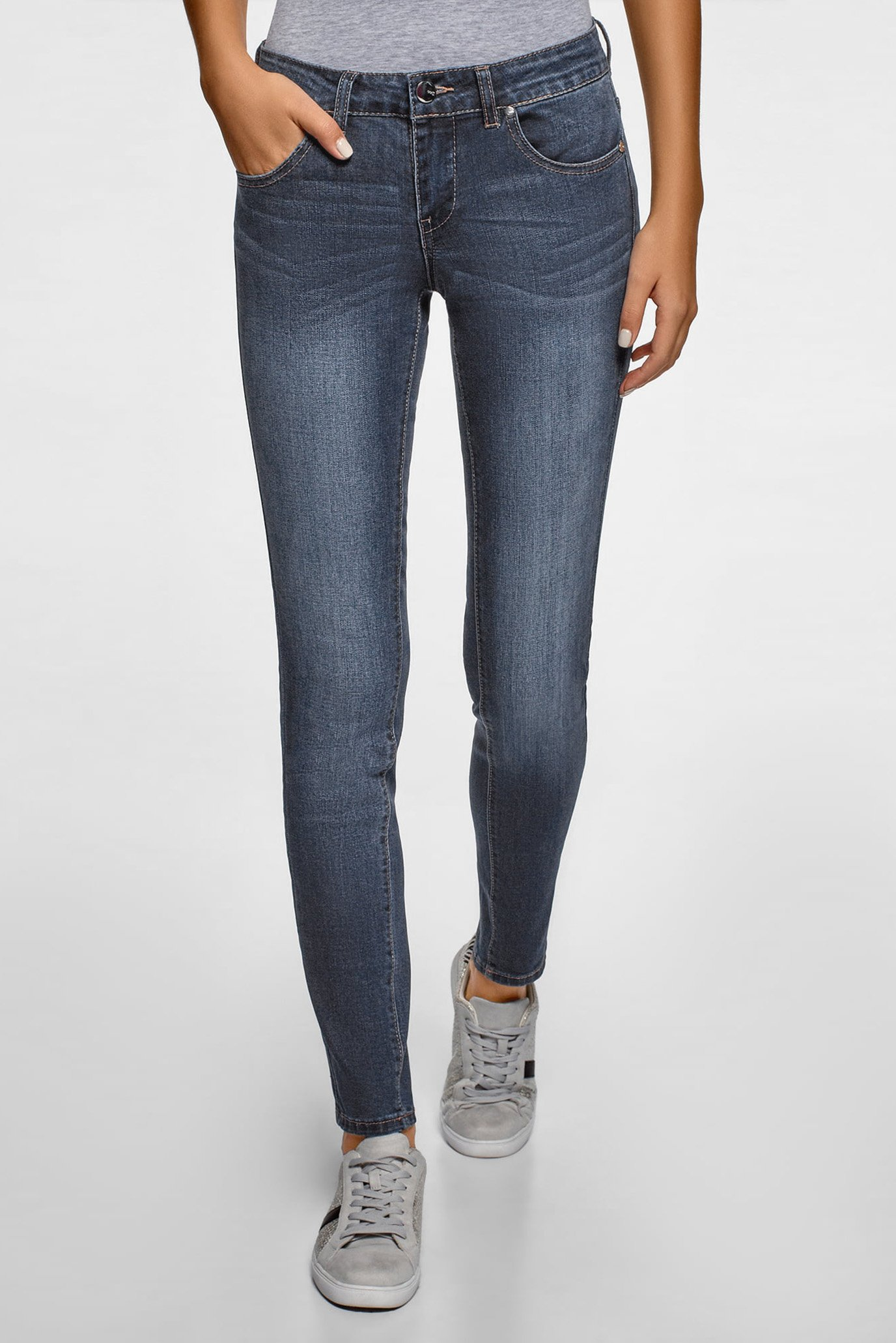 Жіночі темно-сині джинси 1