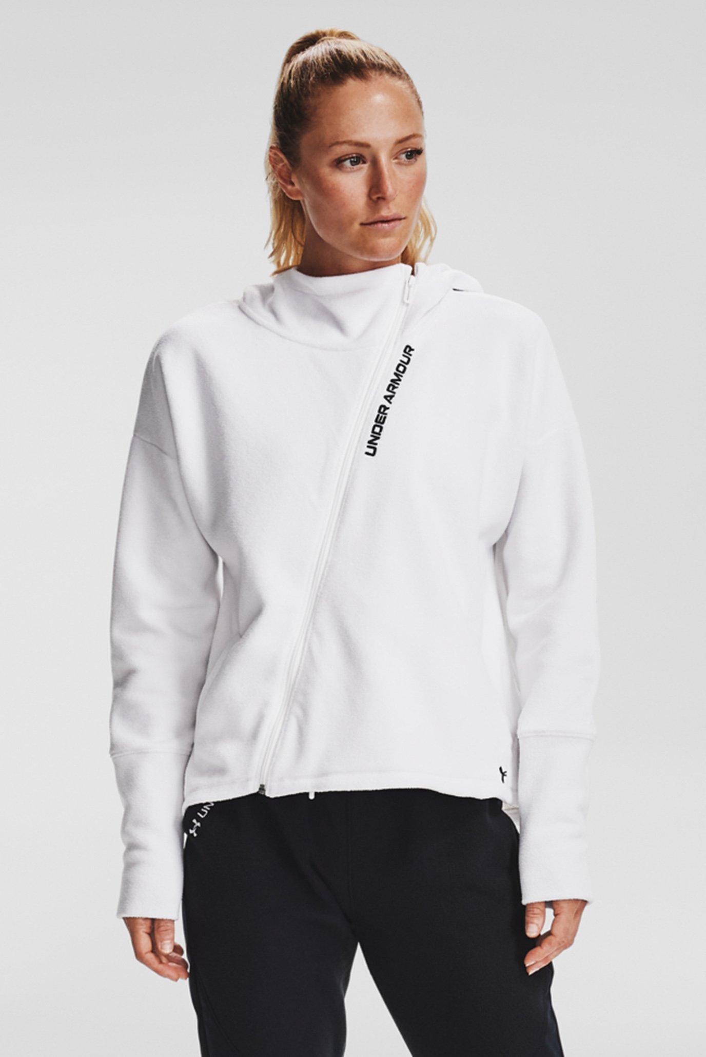 Женское белое худи Recover Fleece FZ Hoodie 1