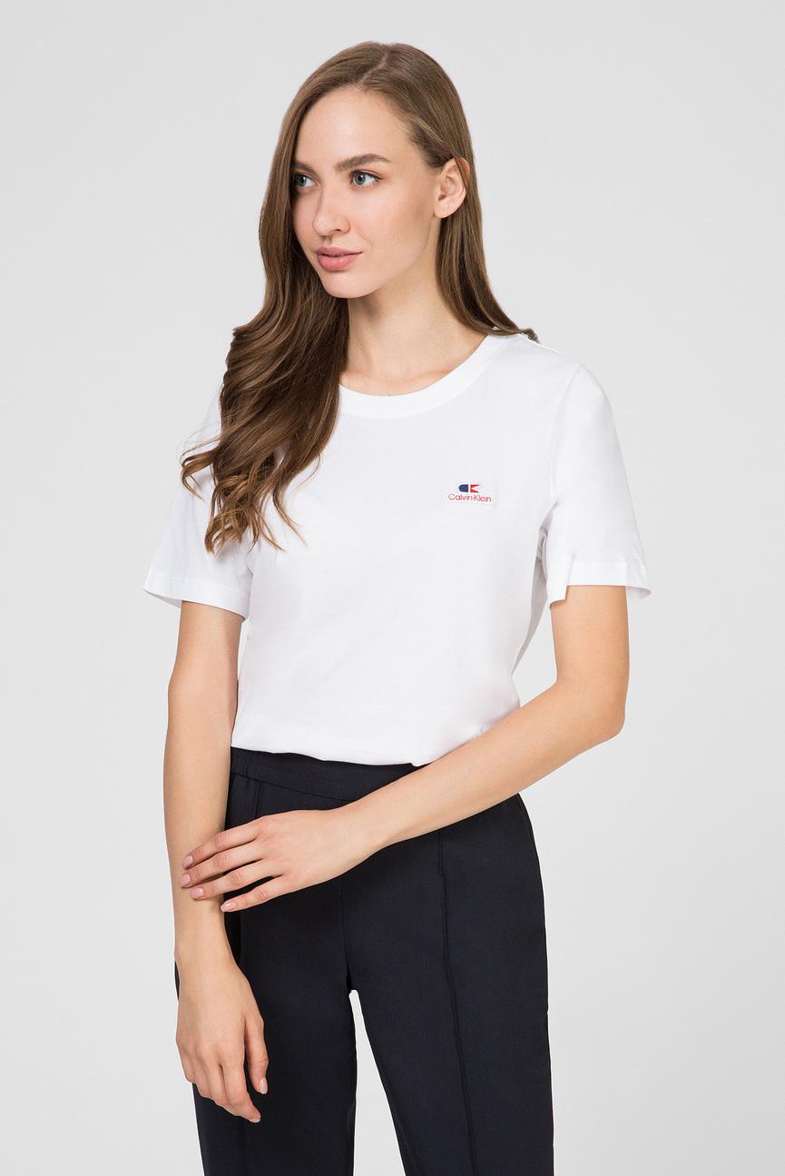 Женская белая футболка VINTAGE LOGO