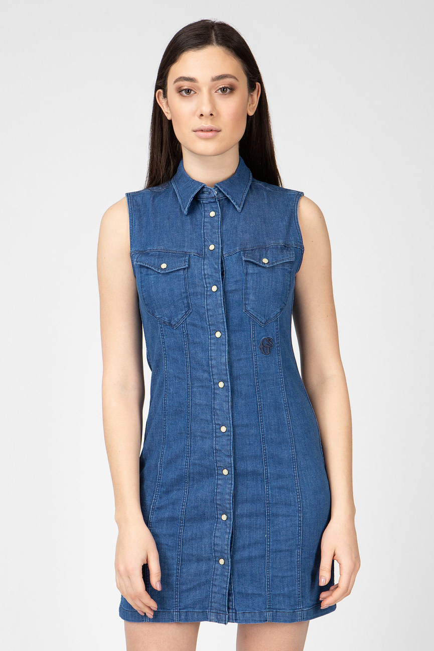 Женское синее джинсовое платье Tacoma